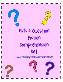 Pick a Question Fiction Comprehension Set