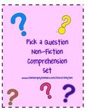 Pick a Question Non-Fiction Comprehension Set