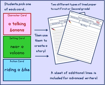 Pick a Story Writing Prompt Cards