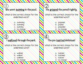 Pick a Word - Spelling Changes with Endings