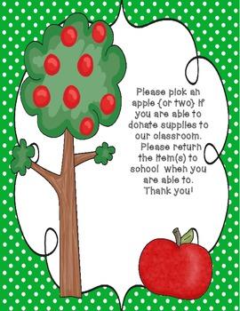 Pick an Apple {An Open House Donation Idea} FREEBIE