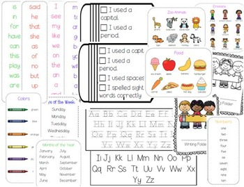 Pick and Choose Writing Office for Kindergarten