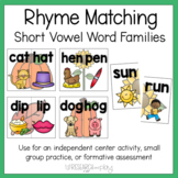 Match It Up: Rhyming Words Fall Activity