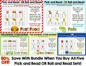 Pick and Read OR Roll and Read: Save With A Bundle - All 5 Kits!