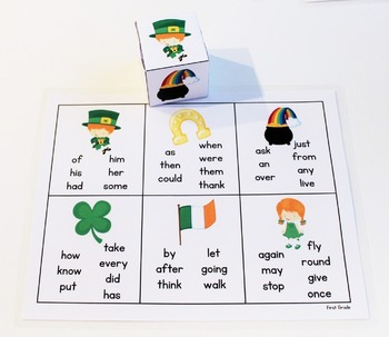 Pick and Read OR Roll and Read: St. Patrick's Day-Contains 220 Dolch Sight Words
