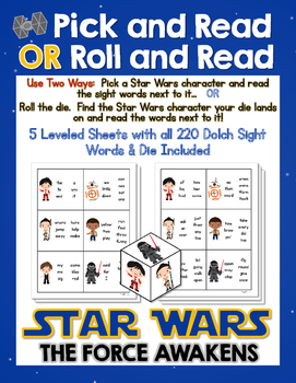Pick and Read OR Roll and Read:  Star Wars The Force Awake