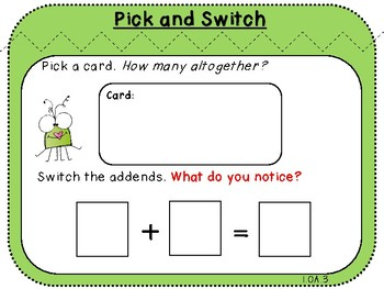 Pick and Switch-Student Game (First Grade, 1.OA.3)