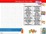 Pick and n Mix Wordsearch Puzzle Sheet Keywords Food Science Sweets Nutrition