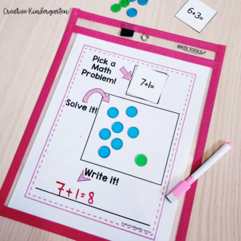 Pick it! Build it! Write it! Number Sense Kindergarten Math Work Mats