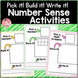 Number Sense Kindergarten Pick it! Build it! Write it! Math Work Mats