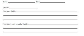 Pick me! Pick me! Classroom Job Application