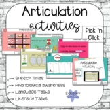 Pick 'n Click Articulation Activities | Distance Learning