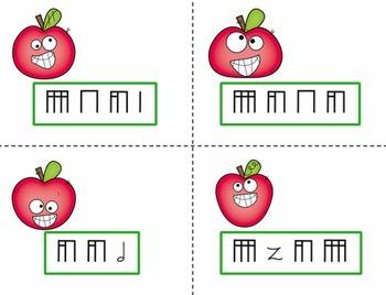 Pick the Apple Rhythm Practice Game {Bundled Set}