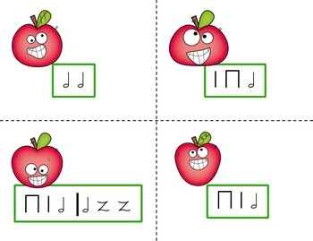 Pick the Apple Rhythm Practice Game {Half Note}