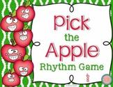 Pick the Apple Rhythm Practice Game {Six Eight}