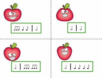 Pick the Apple Rhythm Practice Game {Six Eight}