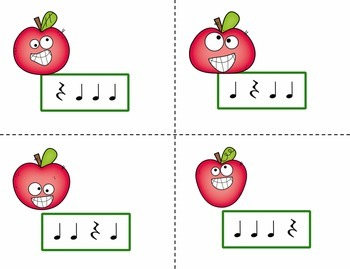Pick the Apple Rhythm Practice Game {Ta Rest}