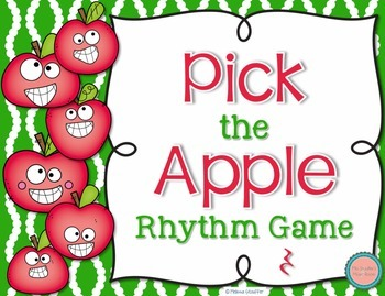 Pick the Apple Rhythm Practice Game {Ta Rest}