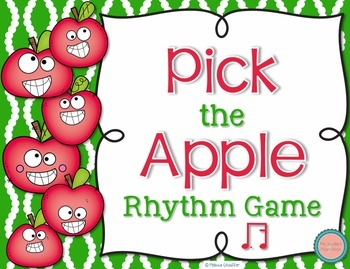 Pick the Apple Rhythm Practice Game {Tim-ka}