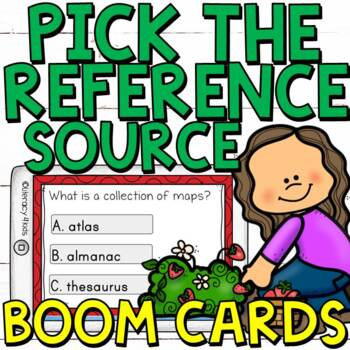 Pick the Right Reference Source (Digital Task Cards) for 3rd Graders