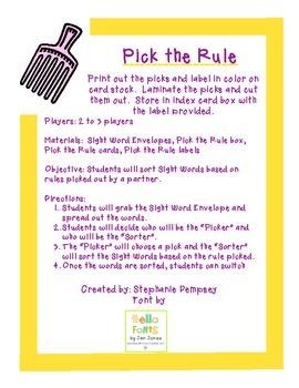 Pick the Rule
