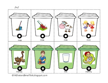 Pick up the Trash!  An Articulation Activity for /p/, /b/ and /m/