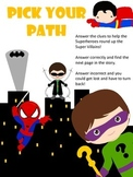 Pick your Path - A Superhero Math Adventure - 1st and  2nd Grade