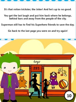 Pick your Path - A Superhero Math Adventure - 1st Grade