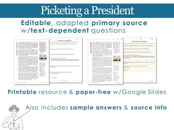 Picketing a President by Doris Stevens