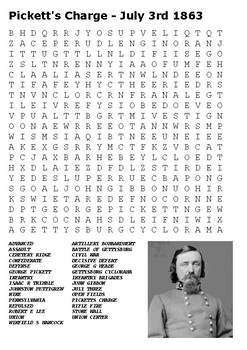 Pickett's Charge Gettysburg Word Search