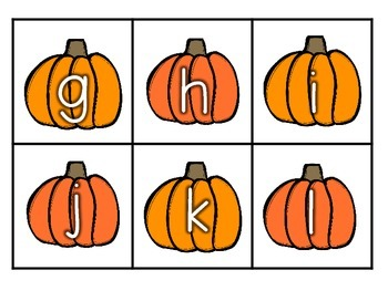 Pickin' Pumpkins ABC Order and Letter Match