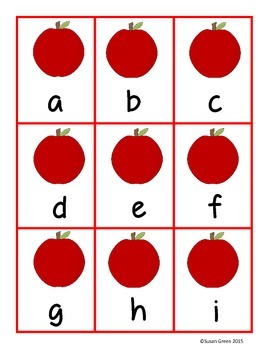 Picking Alphabet Apples: uppercase and lowercase letter matching