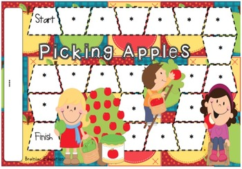 Picking Apples Blank Board Game (EDITABLE)
