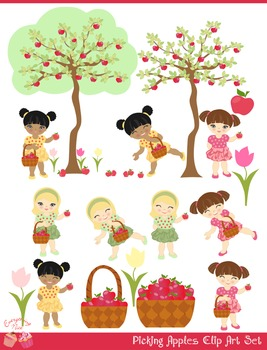 Picking Apples Clipart Set