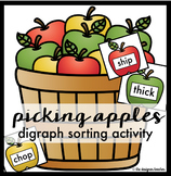Fall Activity CH, SH, TH, & WH Digraph Sort {Picking Apple