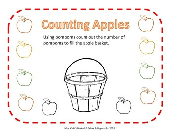 Picking Apples Math Activity