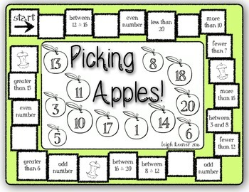 Picking Apples Number Sense Game