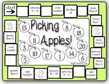 Picking Apples Number Sense Game