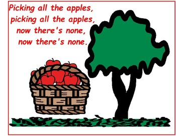 Picking Apples - Song-to-Book Set [speech therapy and autism]