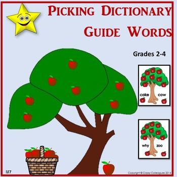 Dictionary Skills Activity