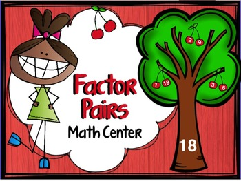"Factors and Multiples ""Finding Factor Pairs"" (numbers between 1-100) Apple Theme"