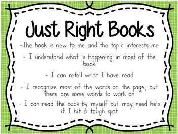 """""""Picking Just Right Books"""" Posters"""