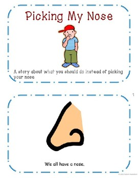 Picking Nose Social Story Packet