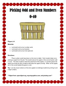 Picking Odd and Even Numbers
