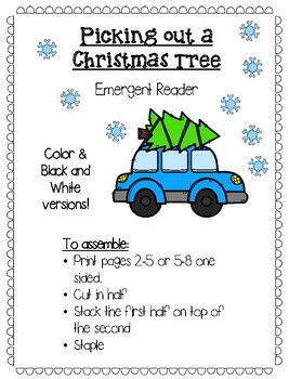 Picking Out a Christmas Tree Emergent Reader