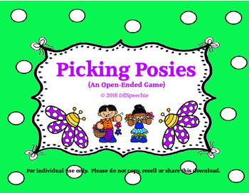 Picking Posies - Open Ended Game Freebie