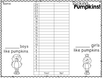 Common Core Math: Graphing about Pumpkins!