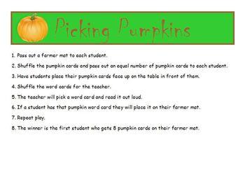 Picking Pumpkins Fall Phonics Game Activity CVC, CCVC, CVCe