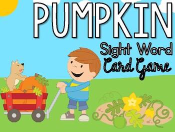 Picking Pumpkins Sight Word Card Game
