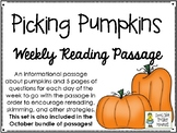 Picking Pumpkins - Weekly Reading Passage and Questions